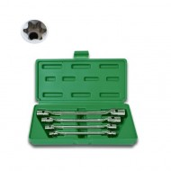 SET OF 4 HINGED TORX BOX SPANNERS