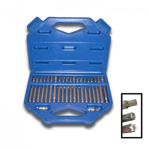 CASE WITH 42 SPANNERS FOR TORX SCREWS AND STANDARD 6- AND 12-POINT SCREWS 1
