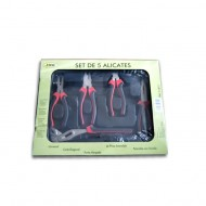 SET OF 5 PLIERS IN CASE