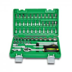 59 PIECE TOOL CASE WITH 3/8″ 12-POINT SOCKETS 1