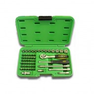 56 PIECE TOOL CASE WITH 12-POINT SOCKETS