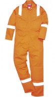 ANTI-STAT IC & FLAME RETARDANT - Lightweight 160grm Boilersuit with Hi-Vis NOT EN471