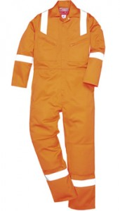 ANTI-STAT IC & FLAME RETARDANT – Lightweight 160grm Boilersuit with Hi-Vis NOT EN471 1