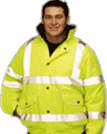 HI-VIS – Bomber Jacket with Hood Lined Waterproof Jacket
