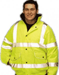 HI-VIS – Bomber Jacket with Hood Lined Waterproof Jacket 1