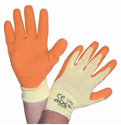 BODYWORKS – Orange Economy Grip Gloves 1