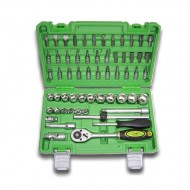 "59 PIECE TOOL CASE WITH 3/8"" HEXAGONAL SOCKETS"