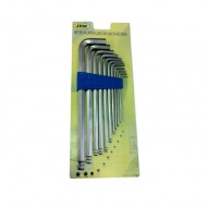 SET OF 11 ALLEN KEYS WITH ROUND HEAD