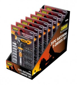 CARGO – Ratchet T-Driver Set 31 PC, 6 Per Display 1